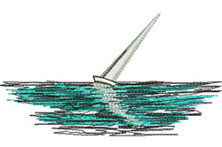 Yacht embroidery design