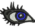 Eye embroidery design