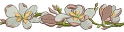 Magnolia Border embroidery design