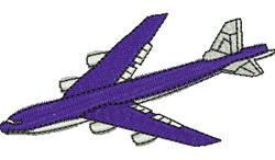 Airliner embroidery design