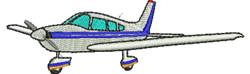 Light Plane embroidery design