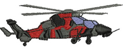 Military Helicopter embroidery design