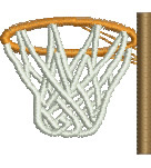 Basketball Hoop embroidery design