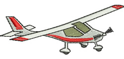 Light Airplane embroidery design