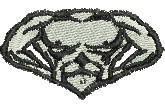 Bodybuilder embroidery design