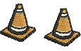 Safety Cones embroidery design