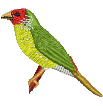 Goldfinch embroidery design