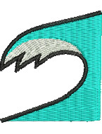Breaking Wave embroidery design