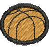 Basketball embroidery design