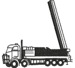 Drilling Truck embroidery design