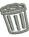 Trash Can embroidery design