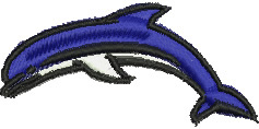 Leaping Dolphin embroidery design