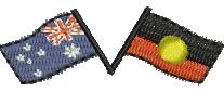 Australian Flags embroidery design