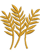 Wheat embroidery design