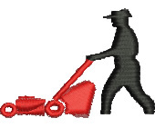 Lawn Mowing embroidery design