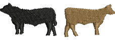 Cows embroidery design