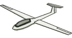 Glider embroidery design