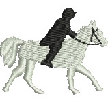 Horse and Rider embroidery design