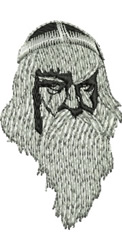 Merlin embroidery design