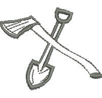 Axe and Shovel embroidery design
