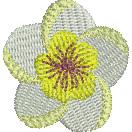Frangipani embroidery design