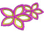 Pink Frangipani Flowers embroidery design
