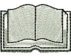 Open Book embroidery design