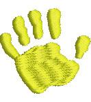 Childs Handprint embroidery design