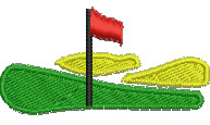 Golf Green embroidery design