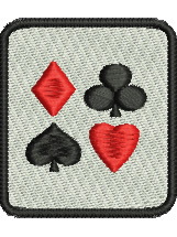 Card Suits embroidery design