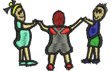 Kids at Play embroidery design