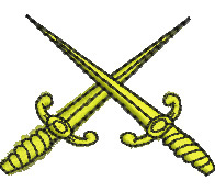 Crossed Daggers embroidery design