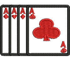 Ace Flush embroidery design