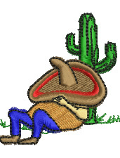 Siesta embroidery design
