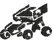 Sprint Car embroidery design