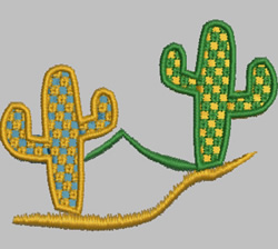 Cacti embroidery design