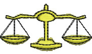 Balance Scales embroidery design