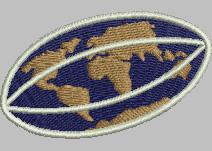 World Rugby embroidery design