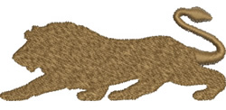 Stalking Lion embroidery design