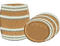 Barrels embroidery design