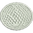Golfball embroidery design