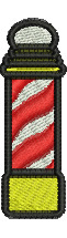 Barbers Pole embroidery design