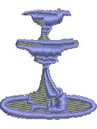 Fountain embroidery design