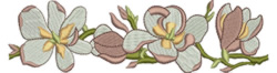 Flower Chain embroidery design
