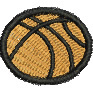 Large Basketball embroidery design