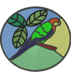 Stained Glass Parrot embroidery design