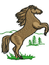 Rearing Horse embroidery design
