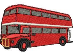 Double Decker Bus embroidery design