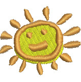 Happy Sun embroidery design
