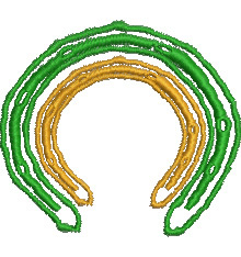 Lucky Horseshoes embroidery design